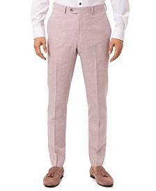 Men's Slim-Fit Pink Plaid Suit Separate Pants