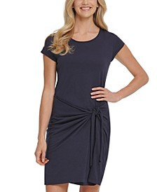 Cotton Side-Tie Dress