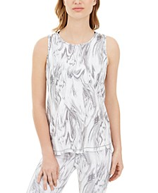Marble-Print Tank Top, Created for Macy's