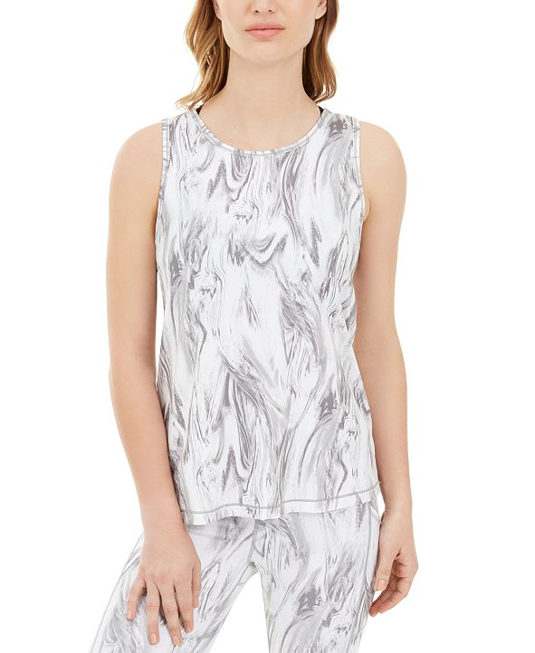Ideology Marble-Print Tank Top, Created for Macy's
