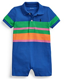 Baby Boys Striped Cotton Polo Shortall