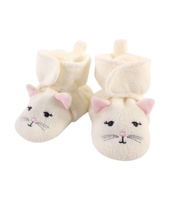 Hudson Baby Baby Girls and Boys Kitty Cozy Fleece Booties