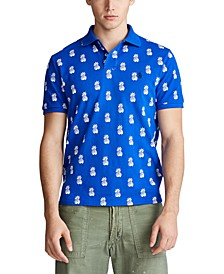 Men's Classic-Fit Pineapple-Print Polo Shirt