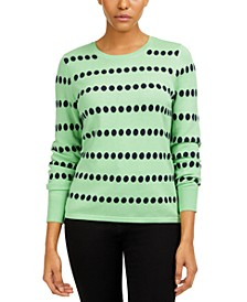 Jacquard-Dot Sweater