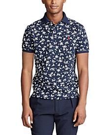 Men's Classic-Fit Tropical-Print Polo Shirt