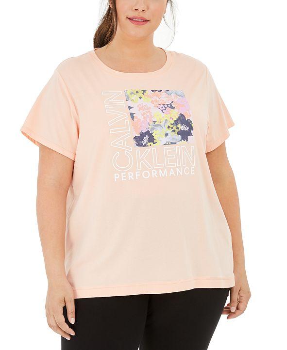Calvin Klein Plus Size Graphic-Print T-Shirt
