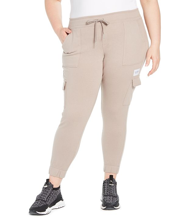 Calvin Klein Plus Size Slim-Fit Cargo Jogger Pants