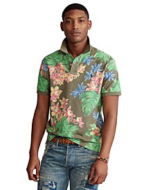 Men's Custom Slim-Fit Floral Polo