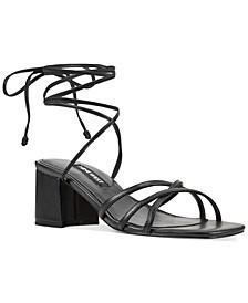 Meli Block-Heel Tie-Up Sandals