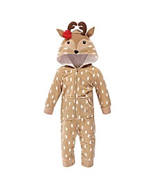 Baby Girls and Boys Reindeer Fleece Coveralls and Playsuits Jumpsuits