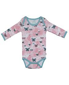 Baby Girls Butterflies Long Sleeve Onesie