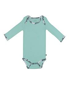 Baby Boys and Girls Snow Bear Mint Long Sleeve Onesie