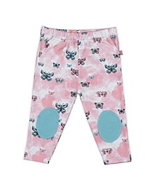 Baby Girls Butterflies Patch Trouser
