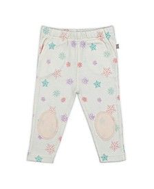 Baby Girls Snowflakes Patch Trouser