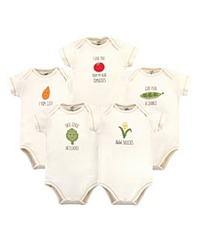 Baby Girls and Boys Corn Bodysuits, Pack of 5