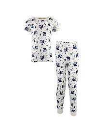 Toddler Girls and Boys Woodland Tight-Fit Pajama Set, Pack of 2