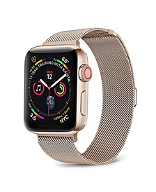 Men's and Women's Apple Dusty Rose Stainless Steel Replacement Band 44mm