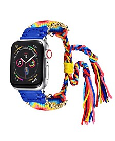 Men's and Women's Apple Blue Friendship Cotton, Stainless Steel Replacement Band 40mm