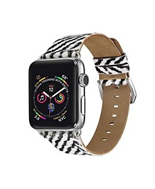 Men's and Women's Apple Zebra Like Colored Hair Leather Replacement Band 44mm