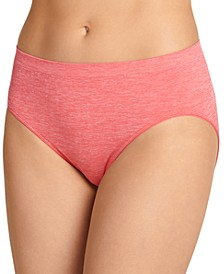 Smooth and Shine Seamfree Heathered Hi Cut Underwear 2188, available in extended sizes
