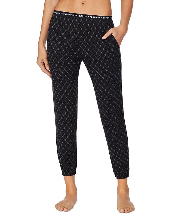DKNY Cropped Knit Jogger Pajama Pants