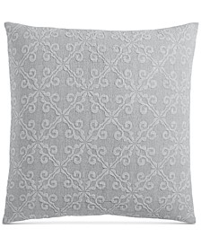 "Woven Tile Cotton 258-Thread Count 26"" x 26"" European Sham, Created for Macy's"