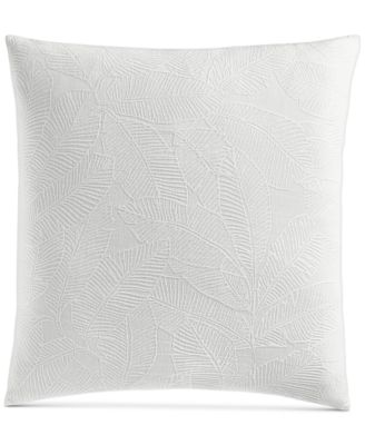 """Woven Leaves Cotton 258-Thread Count 26"""" x 26"""" European Sham, Created For Macy's"""