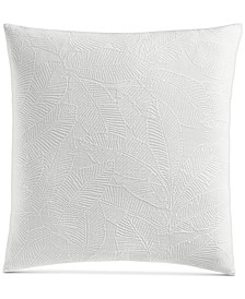"Woven Leaves Cotton 258-Thread Count 26"" x 26"" European Sham, Created for Macy's"