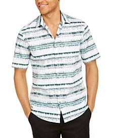 Men's Classic-Fit Abstract Stripe Shirt, Created for Macy's