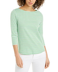 Supima Cotton Striped Top, Created for Macy's