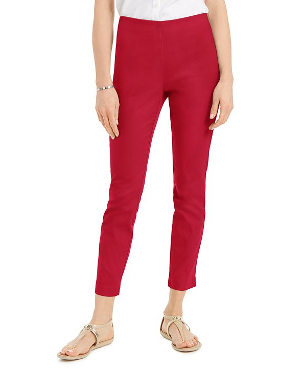 Charter Club Petite Stretch Twill Cropped Pants, Created for Macy's