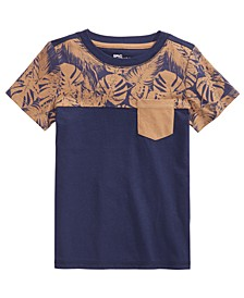 Little Boys Tropical Colorblocked Pocket T-Shirt, Created for Macy's