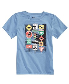 Little Boys Traffic Signs T-Shirt, Created for Macy's