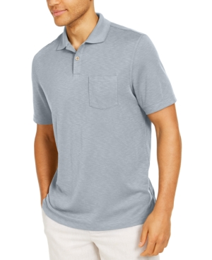 Tasso Elba Island Men's Solid Pocket Polo Shirt, Created for Macy's