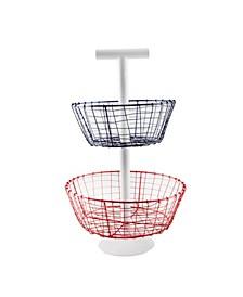Galvanized Wire Basket Server