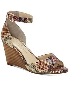 Cervena Wedge Sandals