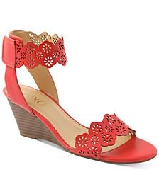 Shavon Ankle-Strap Wedge Sandals