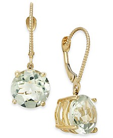 Mint Quartz Drop Earrings (5 ct. t.w.) in 14k Gold-Plated Sterling Silver