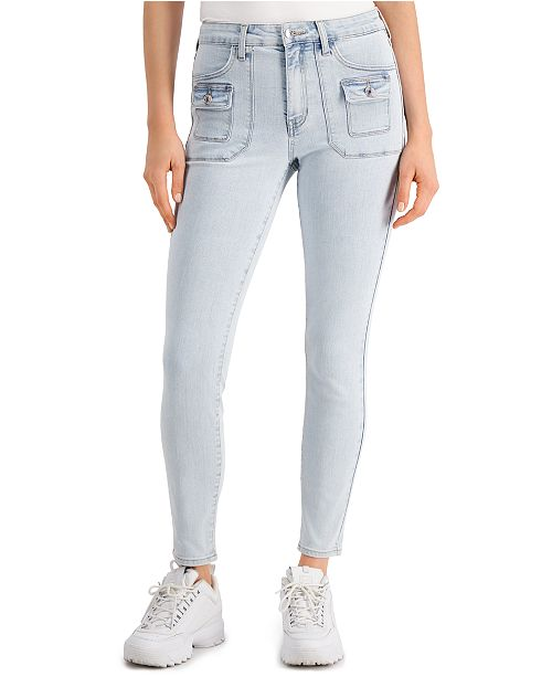 GUESS 1981 High-Rise Cargo Skinny Jeans