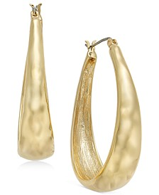 Hammered Oval Hoop Earrings, Created for Macy's