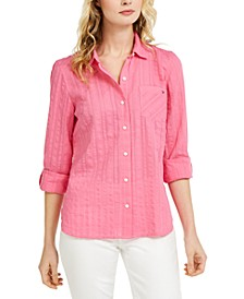 Striped Button-Down Top, Created for Macy's