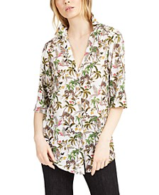 Printed Button-Down Top, Created for Macy's