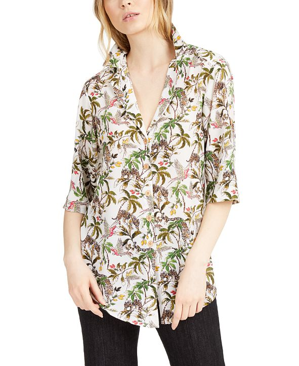 Nanette Lepore Printed Button-Down Top, Created for Macy's