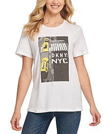 Sequinned Cab Logo T-Shirt