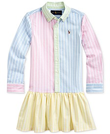 Toddler Girls Cotton Oxford Fun Shirtdress
