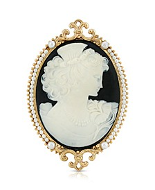 Cameo Goddess of Beauty Brooch Pin