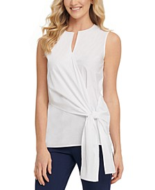 Cotton Wrap Tie Top