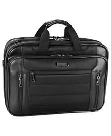 "Kenneth Cole Reaction ""An Easy Decision"" Double Gusset Checkpoint Friendly Laptop Brief"