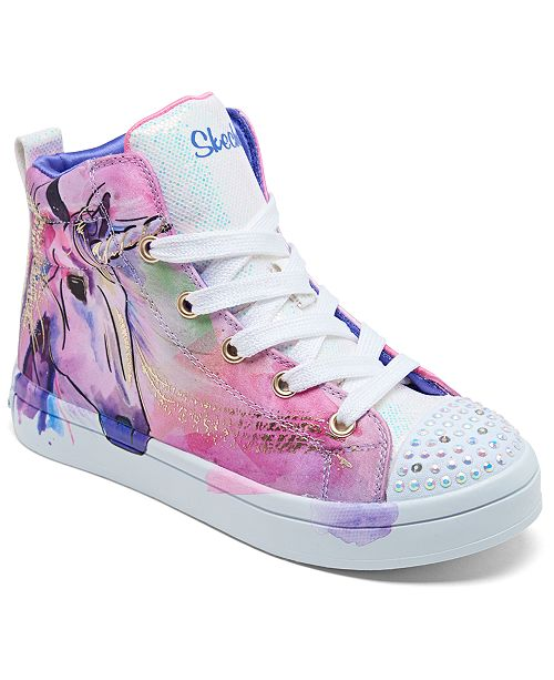 Little Girls' Twinkle Toes: Twi Lites Unicorn Splash High Top Light Up Casual Sneakers from Finish Line