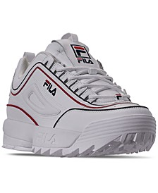 Men's Disruptor II Contrast Piping Casual Athletic Sneakers from Finish Line